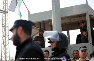 אנשי חמאס שומרים על מעבר ארז